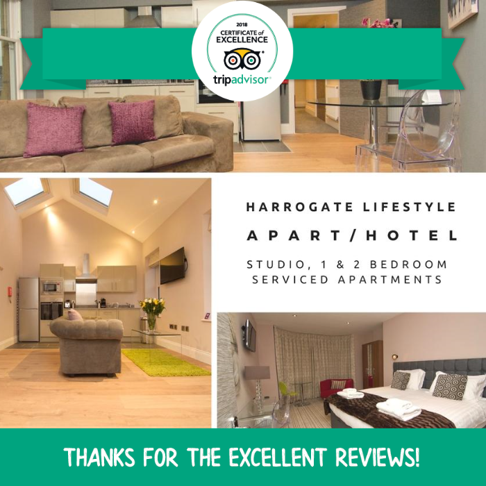 apartments to rent in harrogate as a hotel alternative harrogate lifestyle luxury serviced apartments TRIPADVISOR CERTIFICATE OF EXCELLENCE 2018