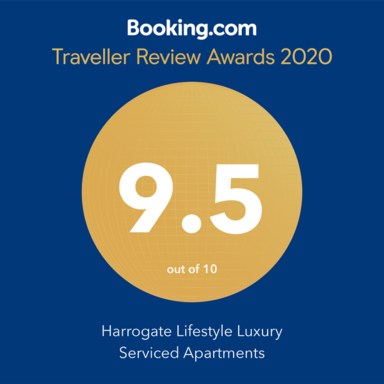 booking.com traveller review award 2020 harrogate lifestyle apartments 9.5 out of 10