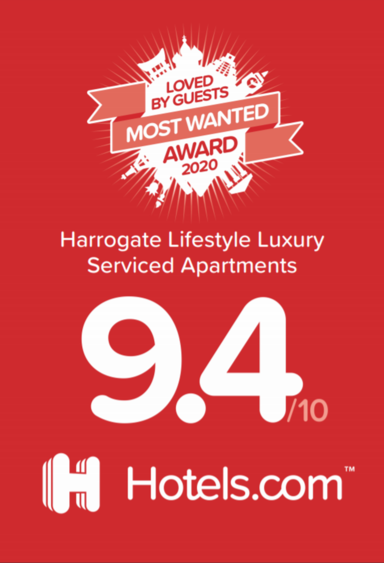 hotels.com LOVED BY GUESTS MOST WANTED AWARD 2020 Accommodation Harrogate UK